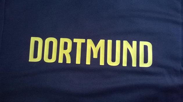 back of Dortmund away jersey