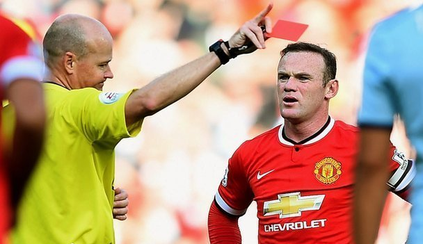 Rooney given red card vs West Ham