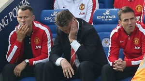 Van Gaal during United loss