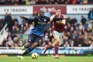 Yaya Toure vs West Ham