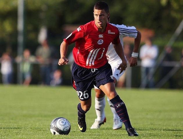 Young Eden Hazard at Lille