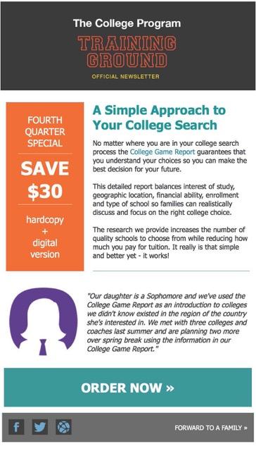 The College Program graphic