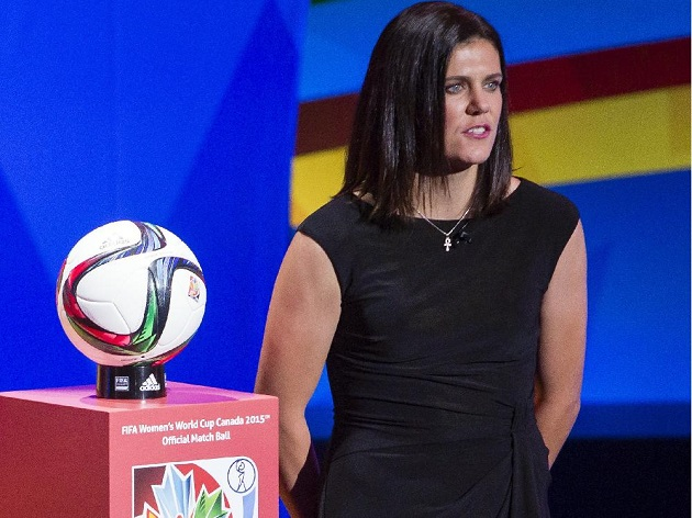 Christine Sinclair at WWC draw