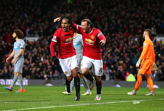 Rooney and Falcao