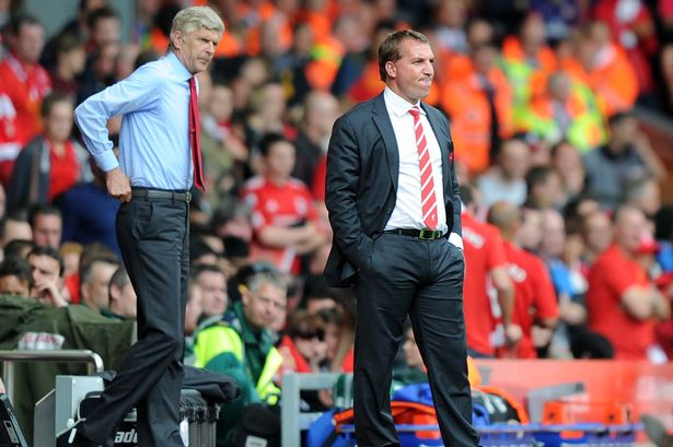 Arsene Wenger and Brendan Rodgers