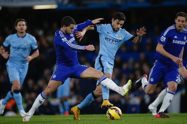 Hazard and Silva battle