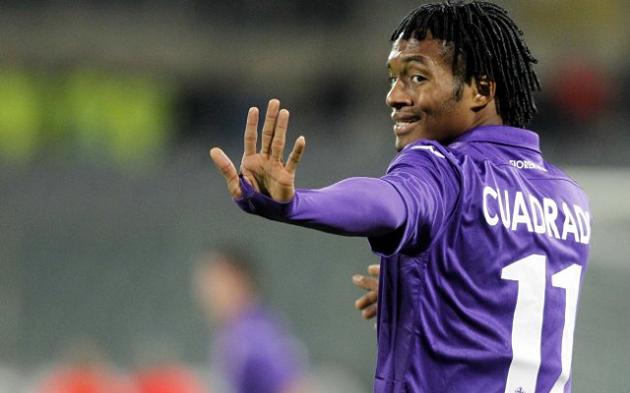 Fiorentina's Juan Cuadrado