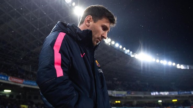 Messi in Barcelona jacket