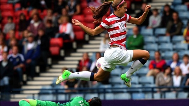 Morgan for USWNT in Olympics