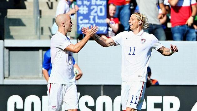Bradley and Shea celebrate