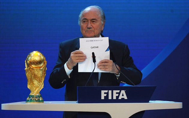 Blatter announces Qatar 2022