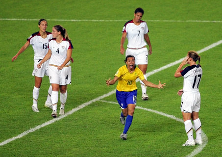 Marta scores vs USA, 2007 World Cup