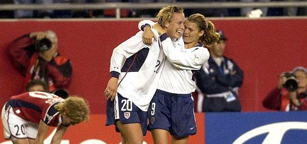 Mia Hamm and Wambach at 2003 World Cup
