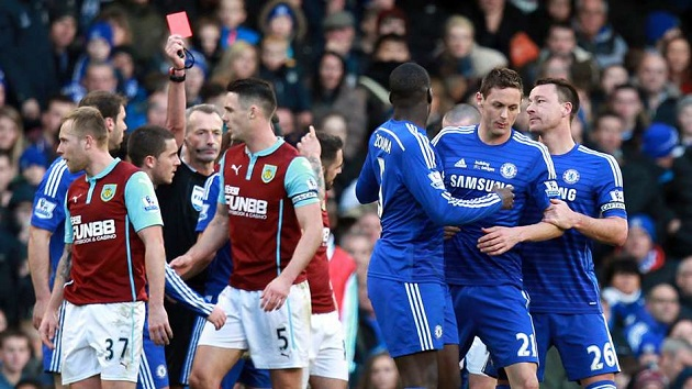 Matic gets red card against Burnley