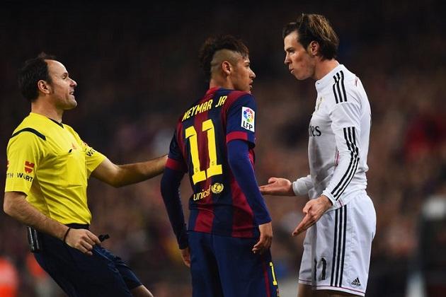 Neymar and Bale in El Clasico
