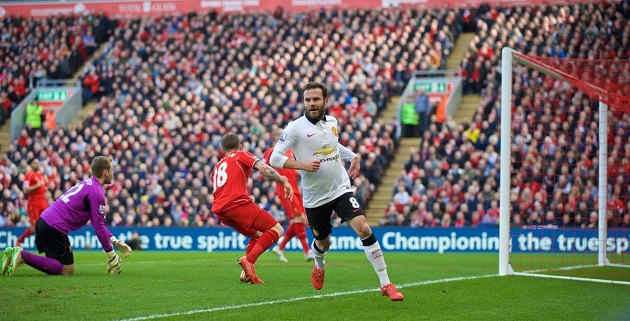 Mata scores vs. Liverpool