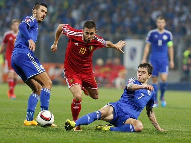 Bosnia vs Belgium in Euro qualifying