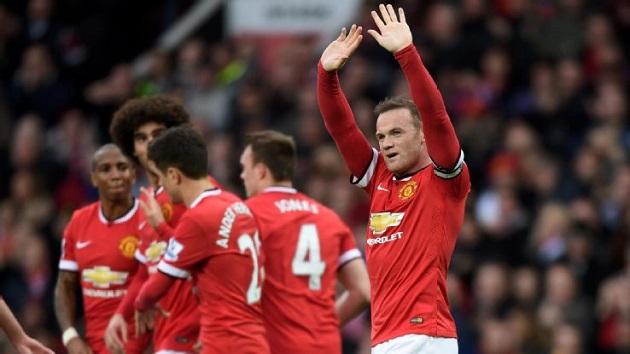Rooney celebrates for United