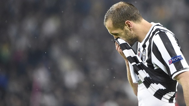 Chiellini and Juventus lose