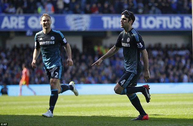 Chelsea's Fabregas beats QPR