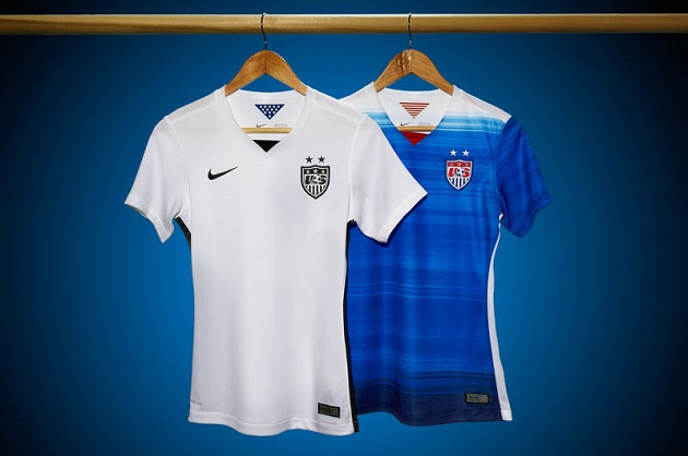US Soccer home and away jerseys 2015