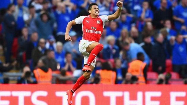 Alexis Sanchez scores in FA Cup