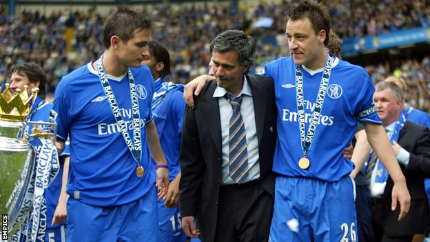 Lampard, Terry, and Mourinho win title