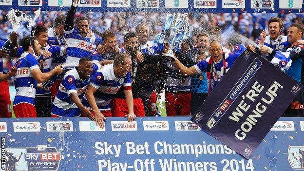 QPR win 2014 Championship trophy