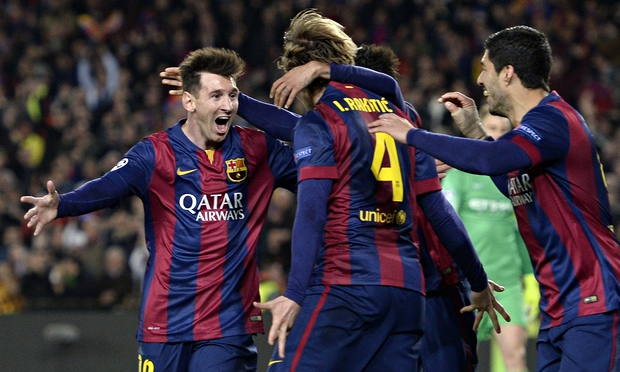 Messi and Barca celebrate