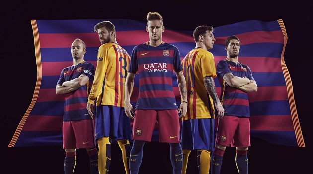 FC Barcelona Home and Away Jerseys 2015-16