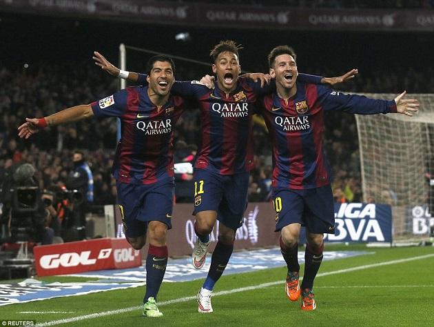 Barca trio Messi, Neymar, Suarez