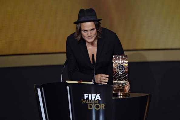 Nadine Angerer accepts Ballon d'Or
