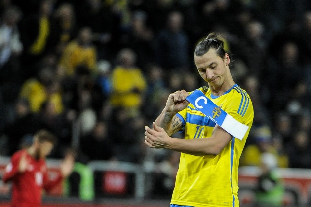 Zlatan captaining Sweden