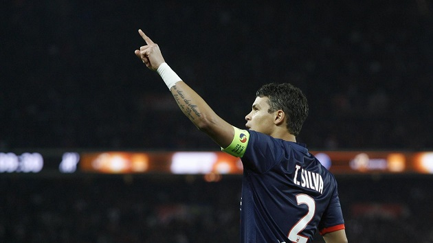 PSG center back Thiago Silva