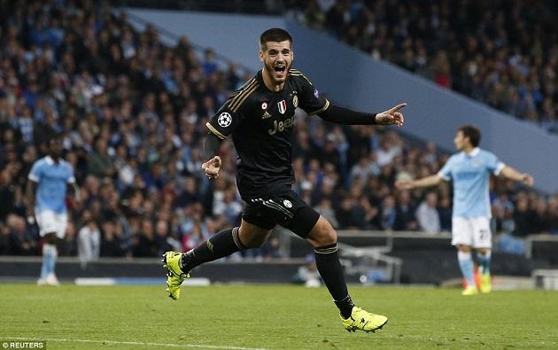 Morata scores for Juve