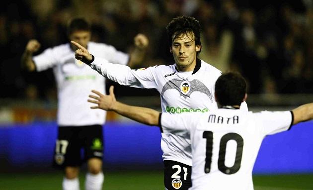 Silva and Mata on Valencia