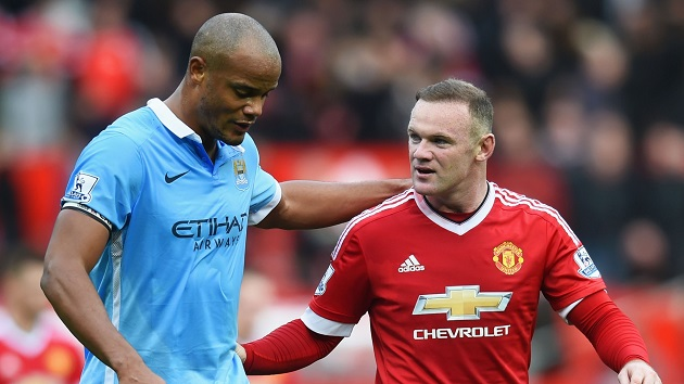Kompany and Rooney