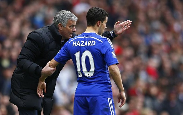 Hazard and Mourinho
