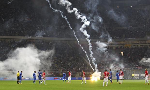 Croatia v. Italy Euro qualifier 2016