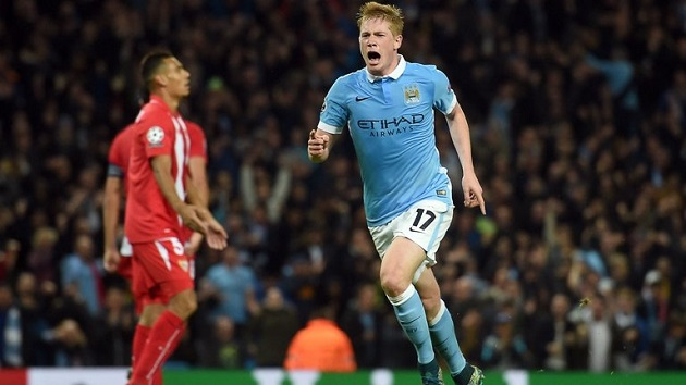 De Bruyne scores for City