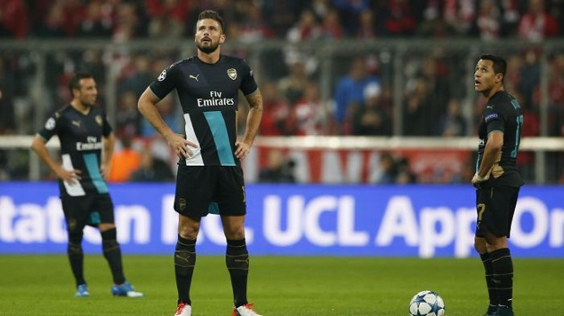 Arsenal lose in Champions League