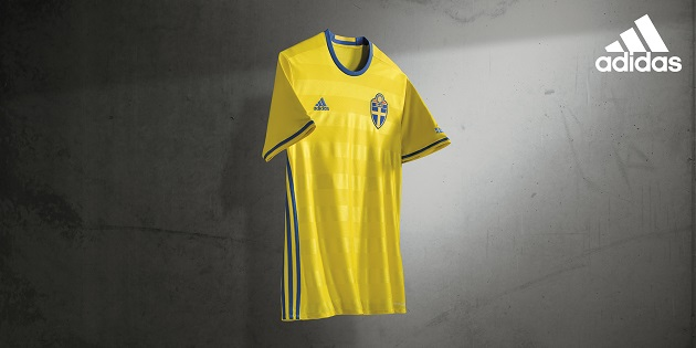 adidas Sweden Home Jersey 2016