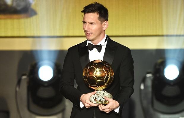 Messi wins 2015 Ballon d'Or