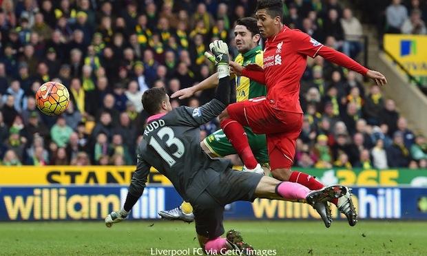 Liverpool's Firmino scores