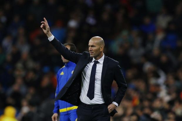Zidane managing Real Madrid