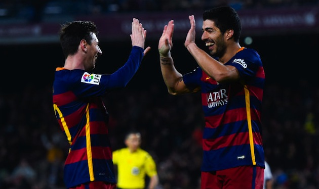 Suarez and Messi for Barca