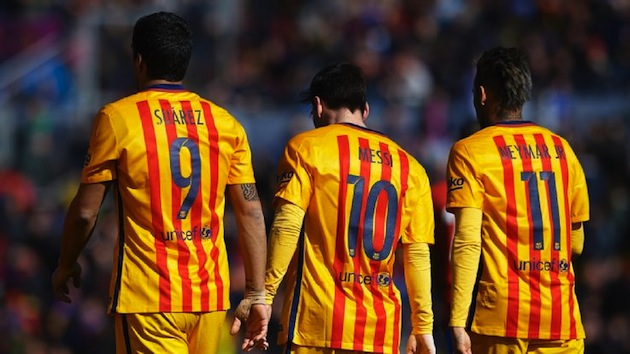 Messi, Suarez, and Neymar