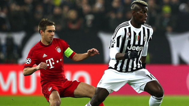 Pogba and Lahm in Champions League