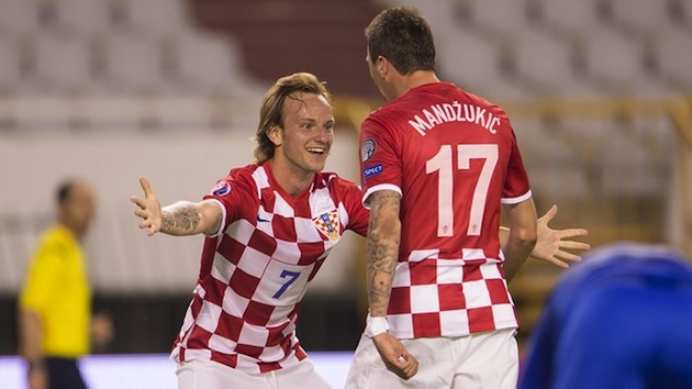 Croatians Rakitic and Mandzukic