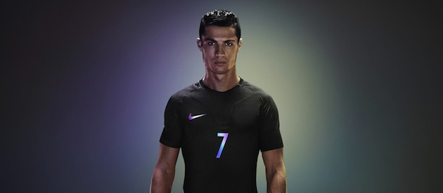 Ronaldo in Nike Vapor jersey with Aeroswift